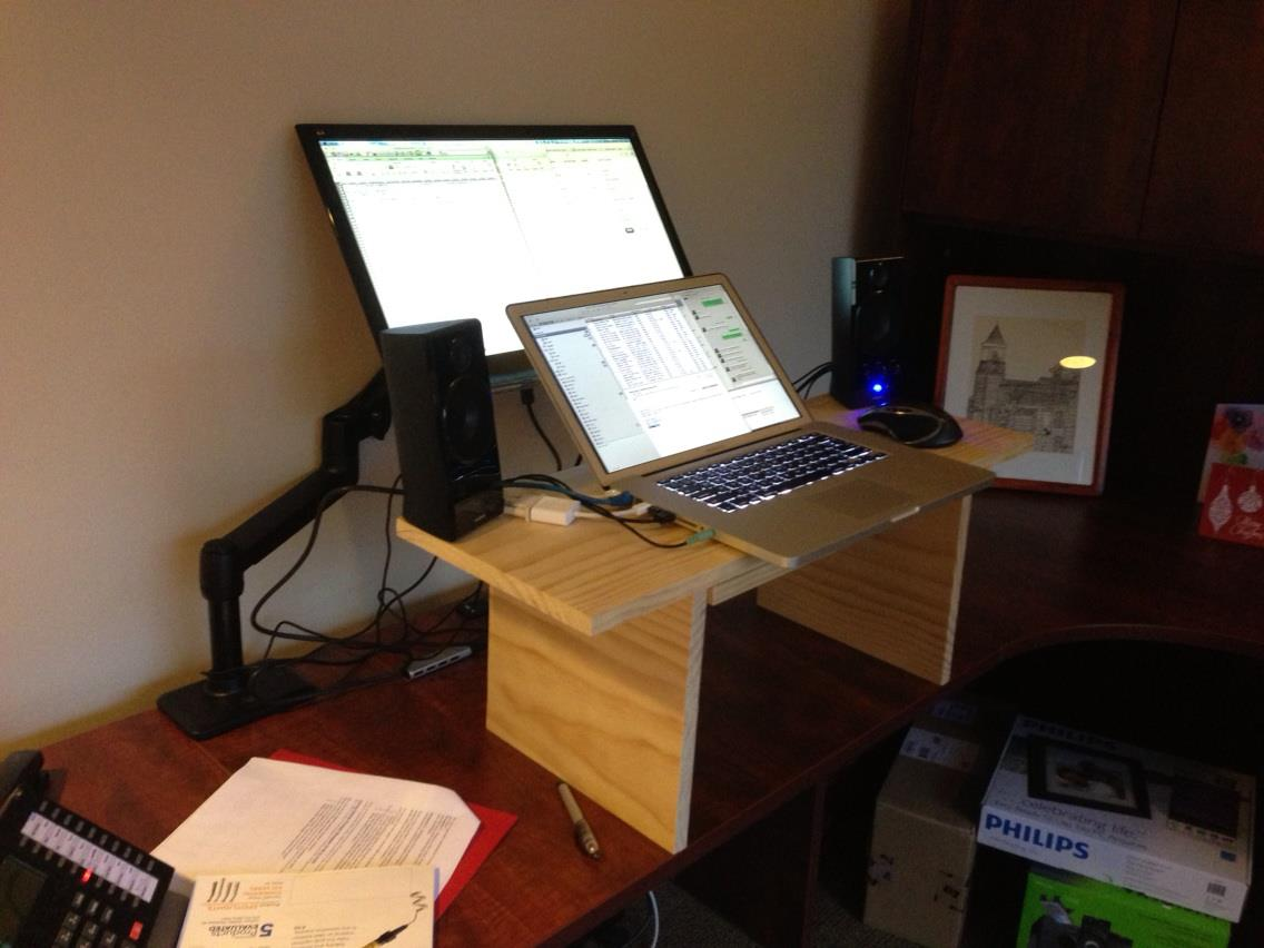 standing desk plans lowes